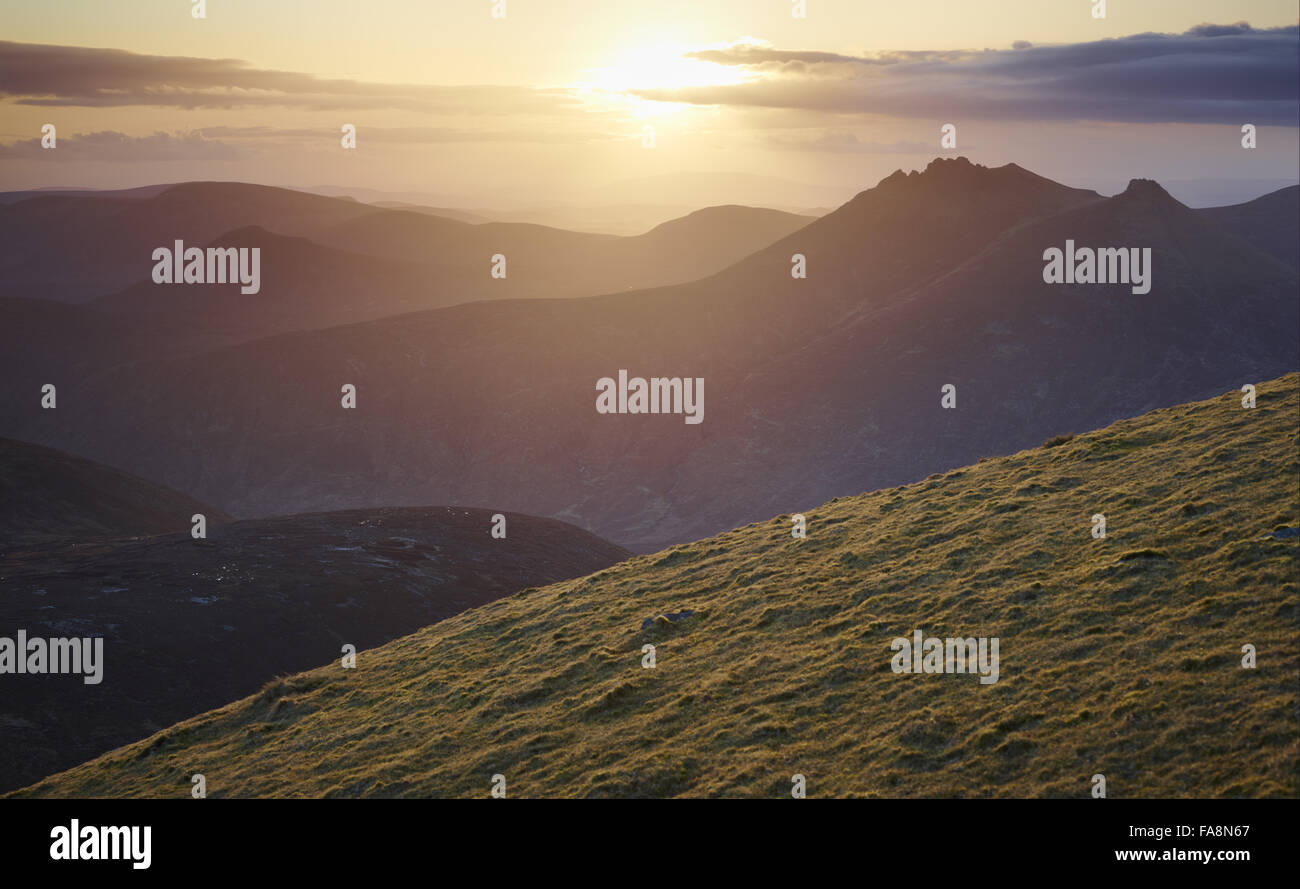 Slieve Donard, Mourne Mountains, County Down, Northern Ireland. Slieve Donard is the highest mountain in Northern - Stock Image