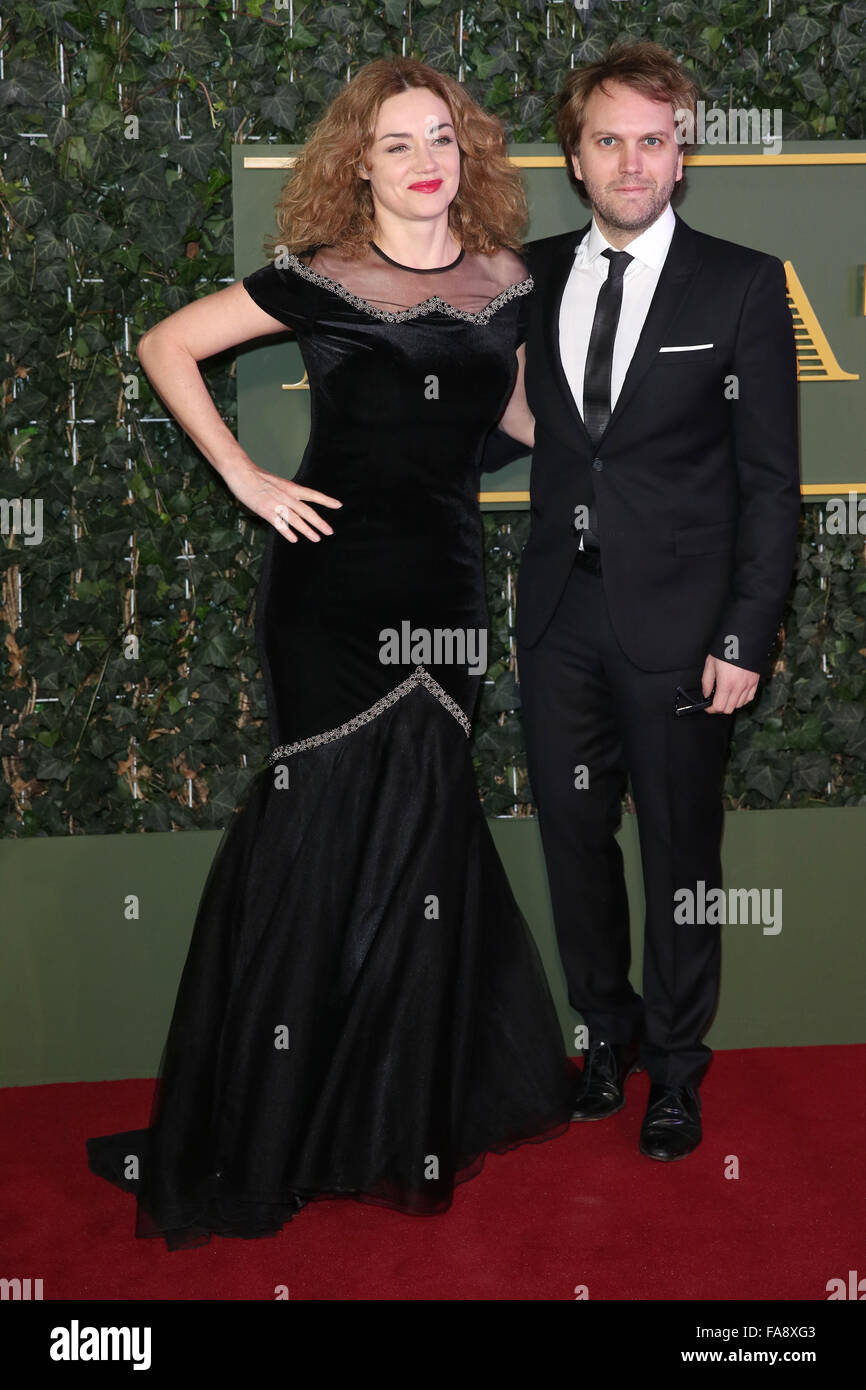 The Evening Standard Theatre Awards held at the Old Vic - Arrivals  Featuring: Marine Delterme, Florian Zeller Where: London, United Kingdom When: 22 Nov 2015 Stock Photo