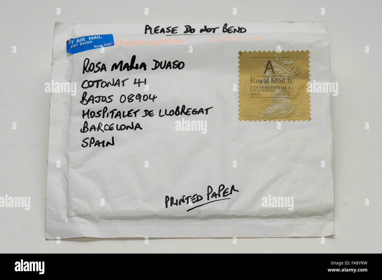 Letters With Stamps Mail By Air