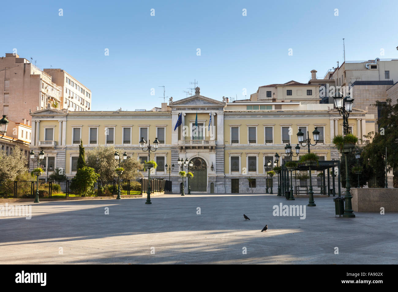 National Bank of Greece headquarters in Kotzia Square, Athens - Stock Image