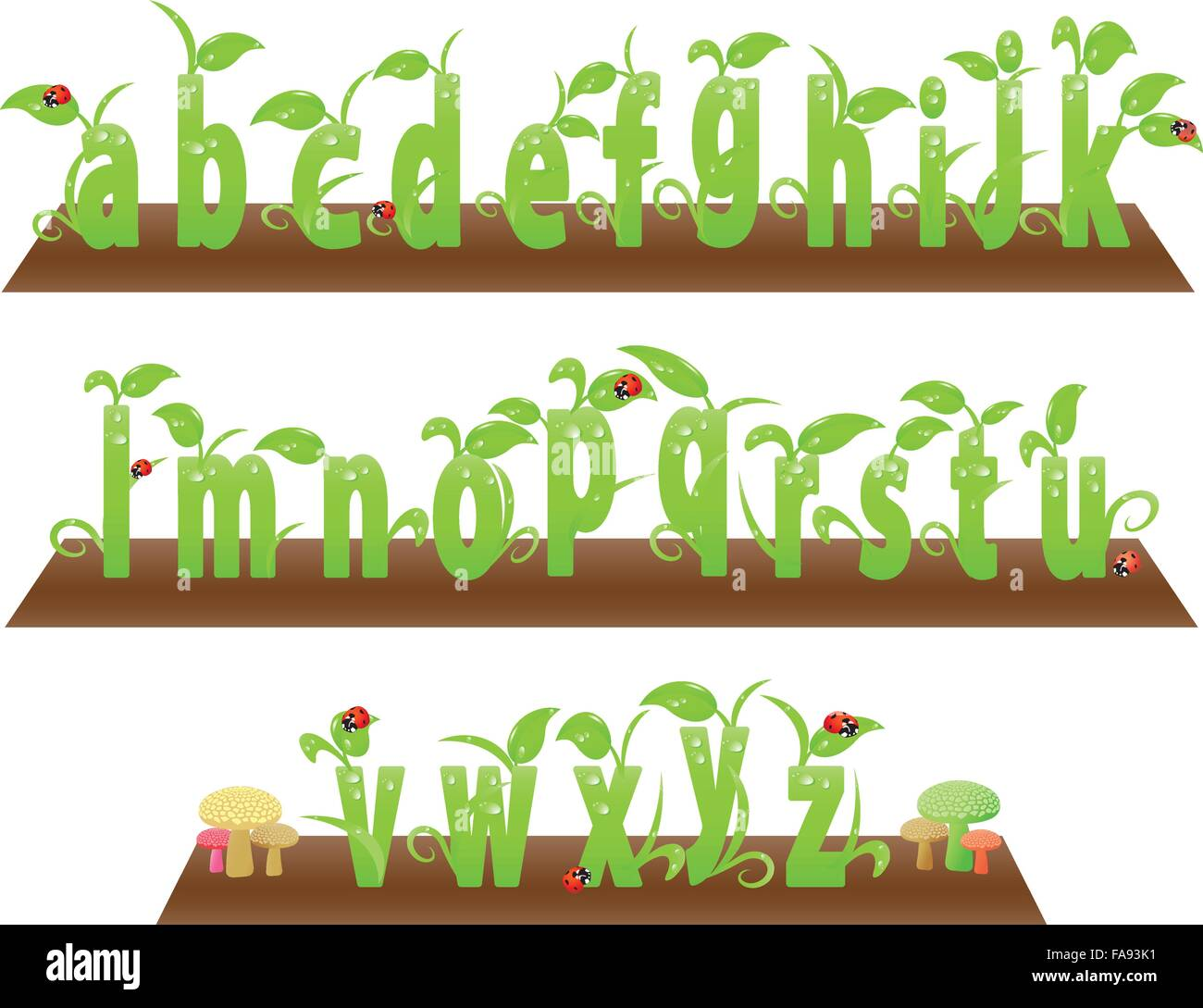 Environment friendly small English alphabets from a to z