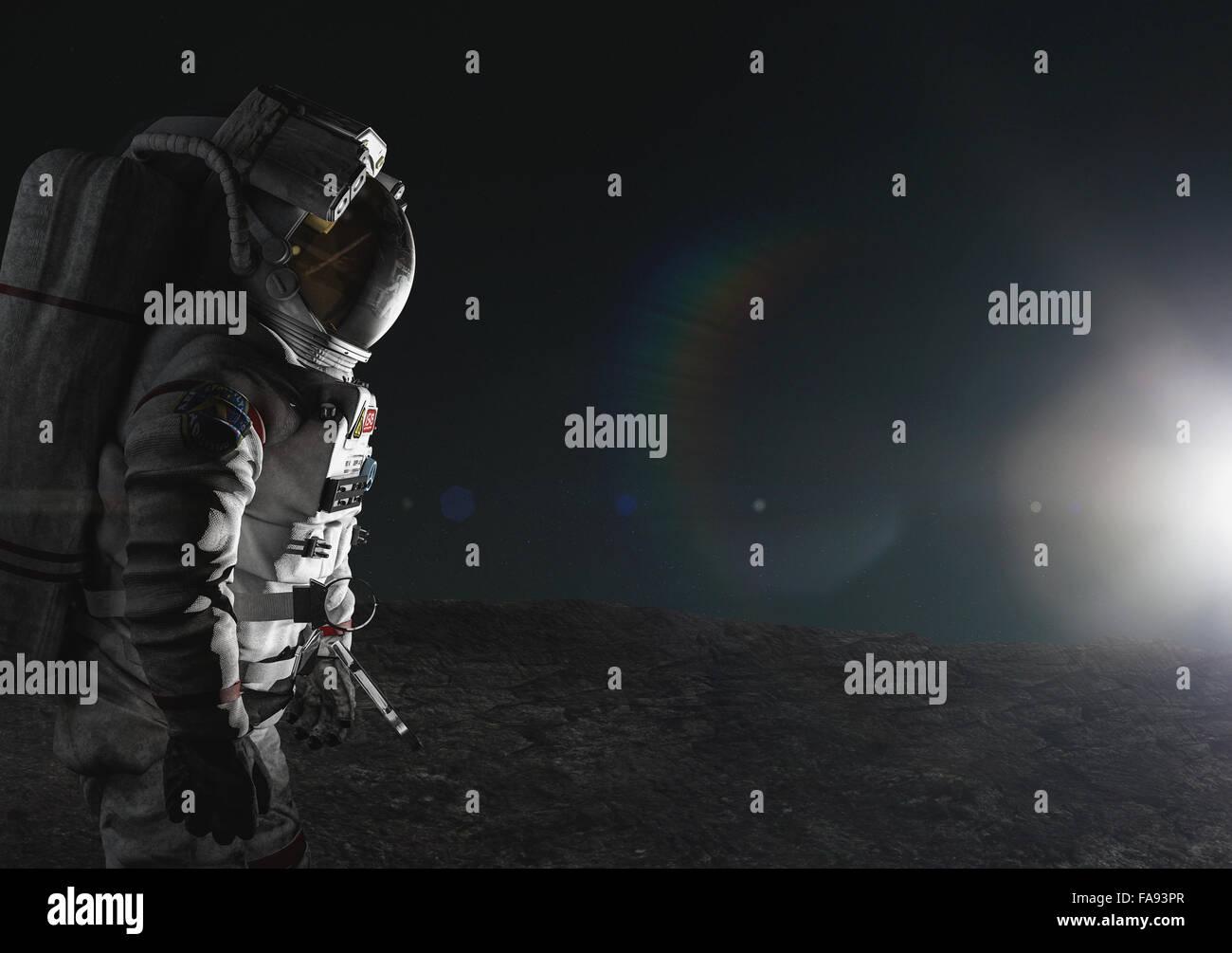 CG astronaut - Stock Image