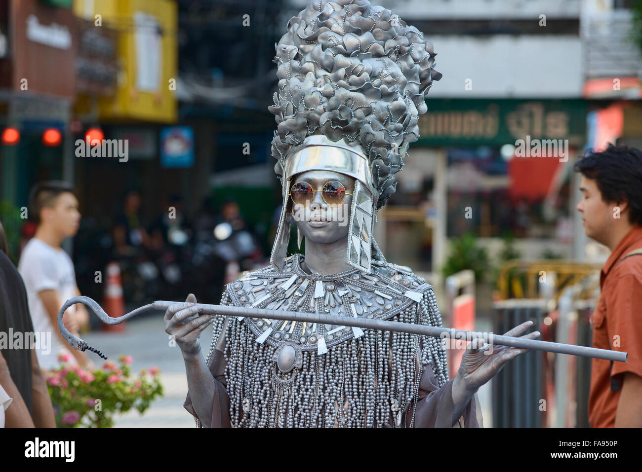 Mime at a street festival in Bangkok, Thailand Stock Photo