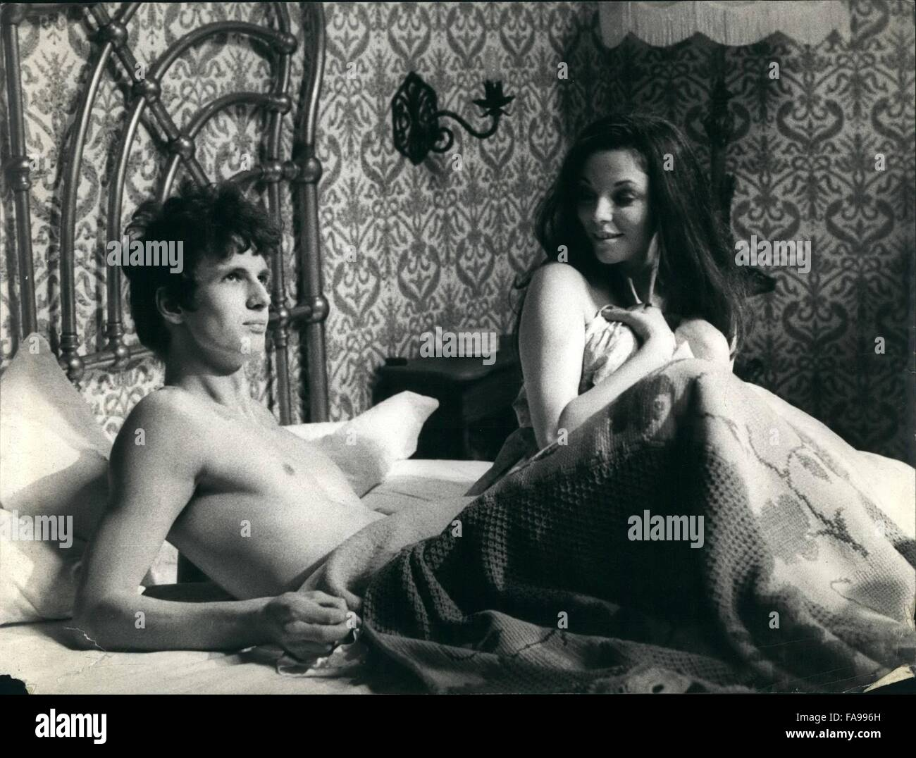 1969 - Fine actress Joan is in Rome to turn the film ''State of Emergency'' directed by Romano Scavolini. - Stock Image