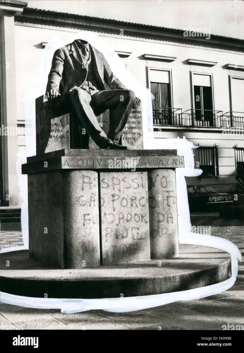 1972 The Last Symbol Of The Fascist Dictatorship In Portugal As