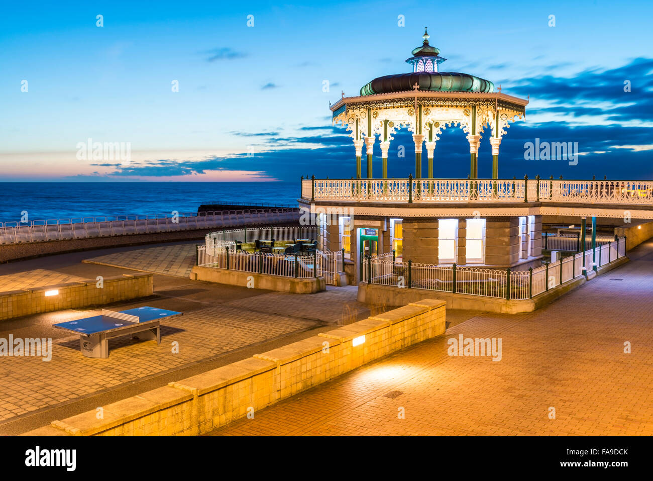 Evening bandstand, Brighton - Stock Image