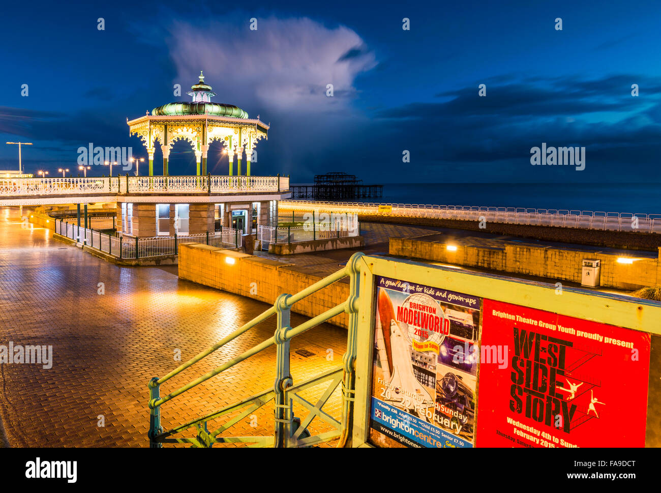 Night Bandstand - Stock Image