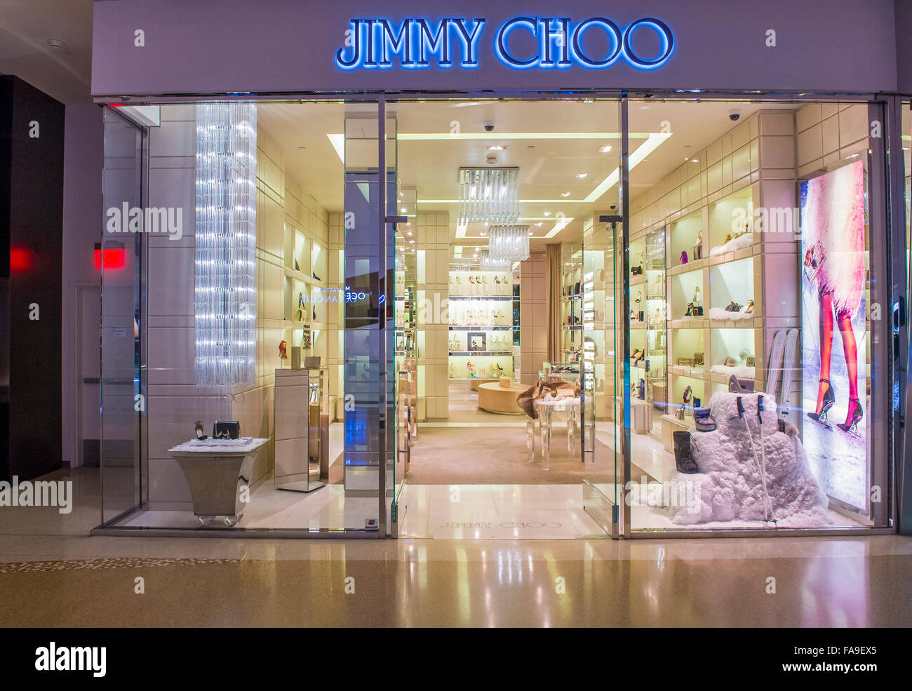 7644ef08f855 Exterior of a Jimmy Choo store in Las Vegas strip - Stock Image