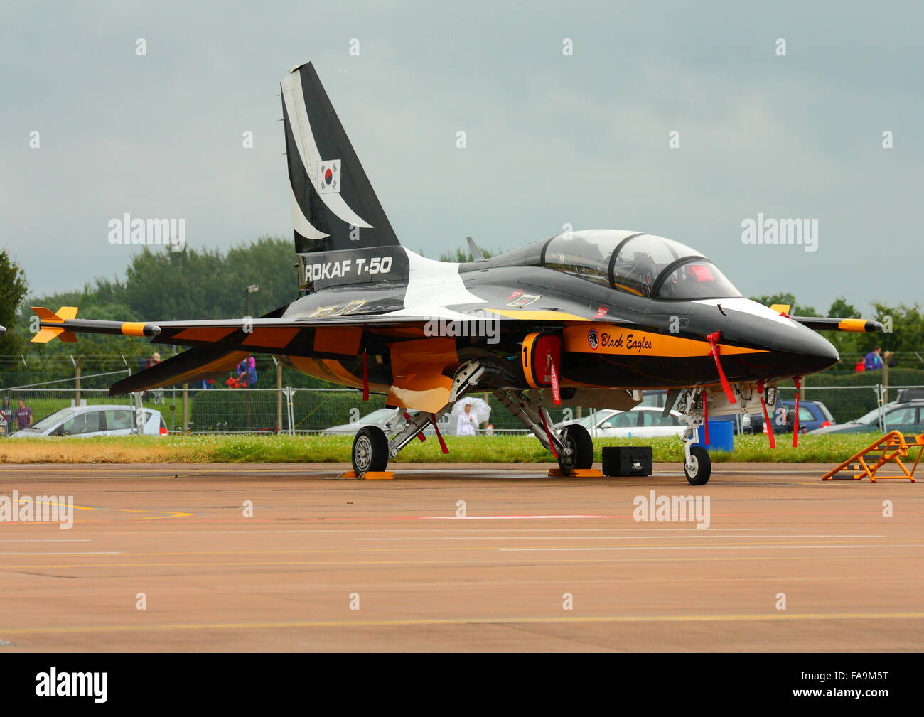 Korean Aerospace T-50 Golden Eagle at the RIAT at Fairford - Stock Image