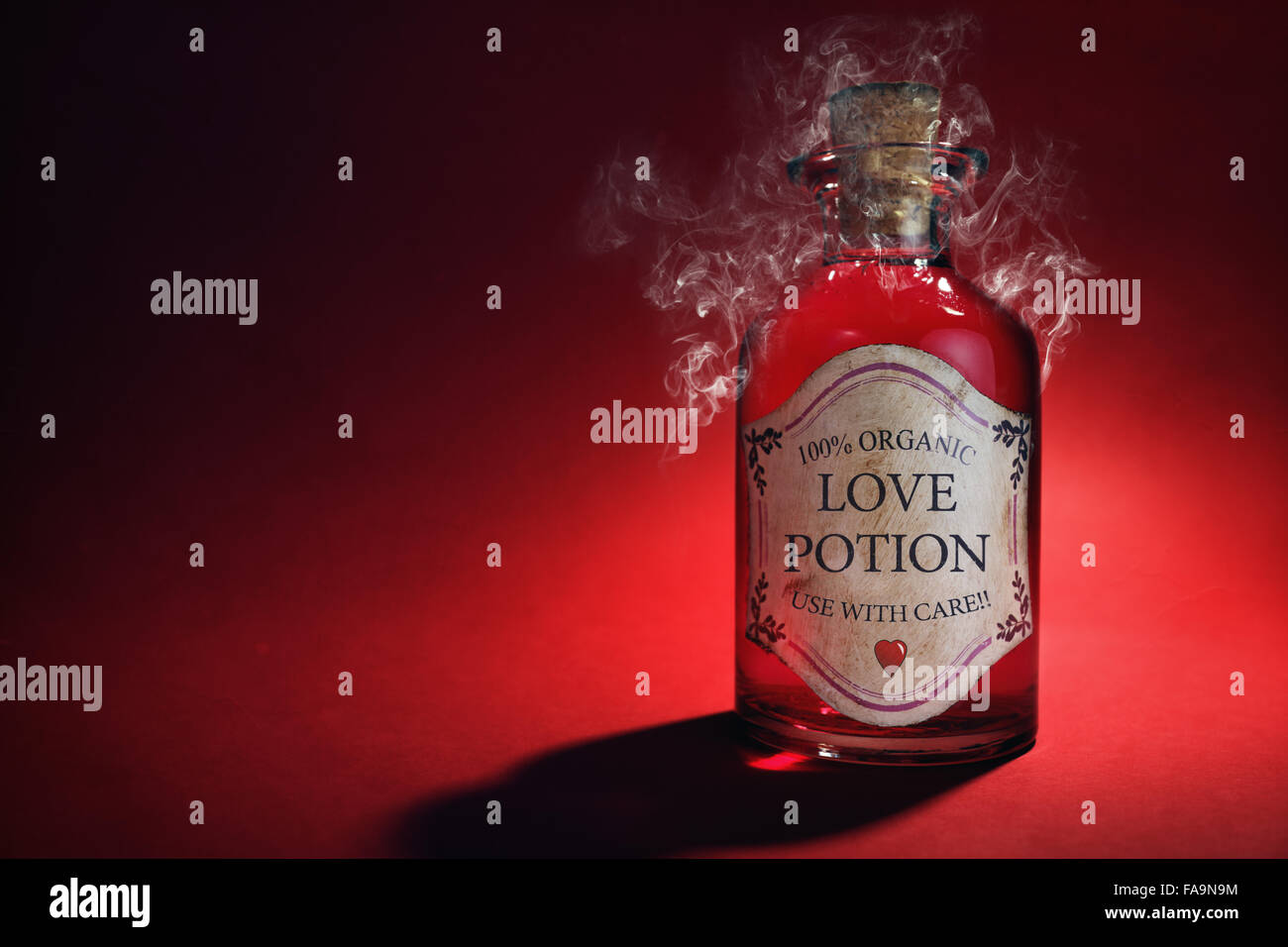 Love potion bottle - Stock Image