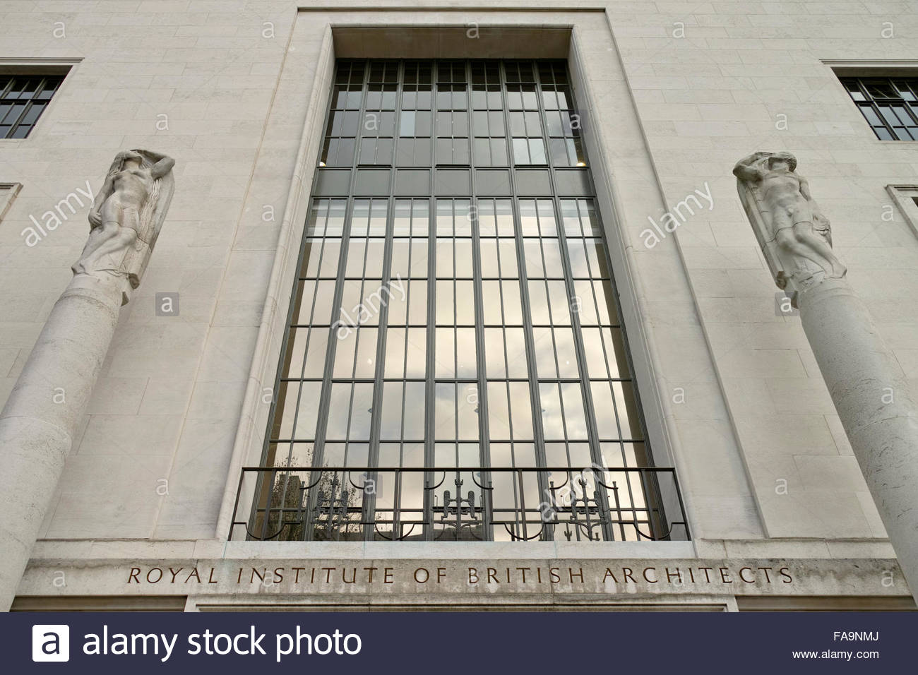 Facade of 66 Portland Place, the Royal Institute of British Architects building: London. - Stock Image
