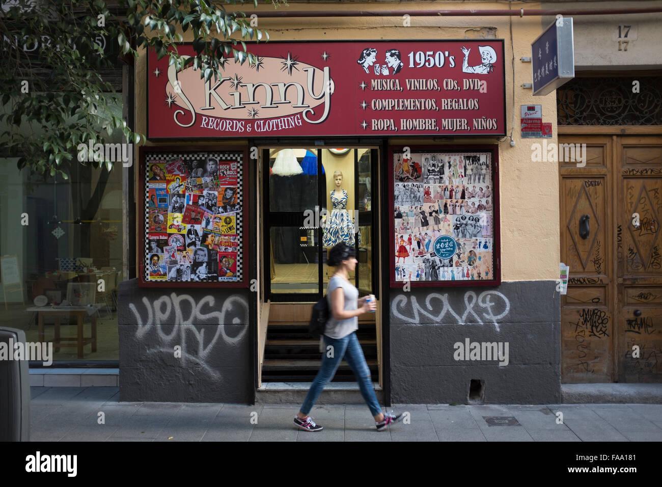 Retro Shop In Hastings Town Westhill Arcade George: Vintage Records Shop Stock Photos & Vintage Records Shop