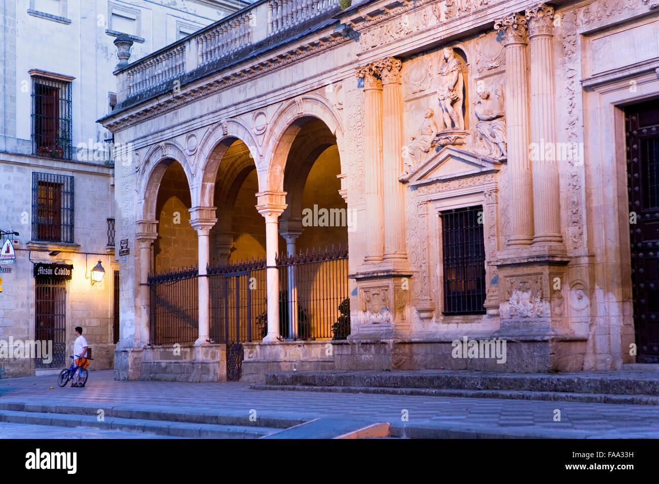 Antiguo Cabildo.Old town hall in Plaza de la Asunción. Jerez de la Frontera. Cádiz province. Spain - Stock Image