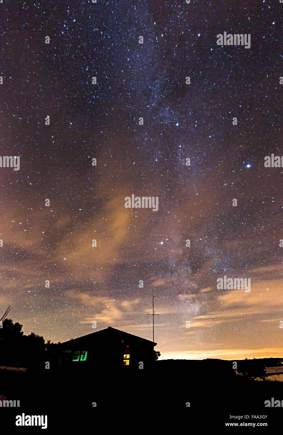 Stars, Kielder Water, Northumberland, England, UK - Stock Image