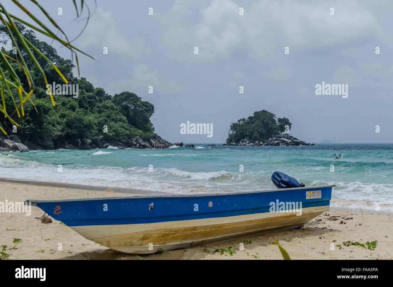 Beach in Tioman Island in Malaysia - Stock Image