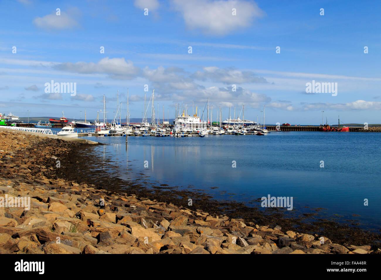 Kirkwall Harbour Orkney Islands Scotland UK - Stock Image
