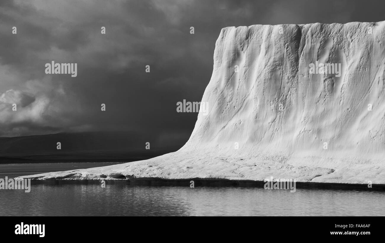 Huge, 200 meter high, iceberg, Baffin Island, Canadian Arctic - Stock Image