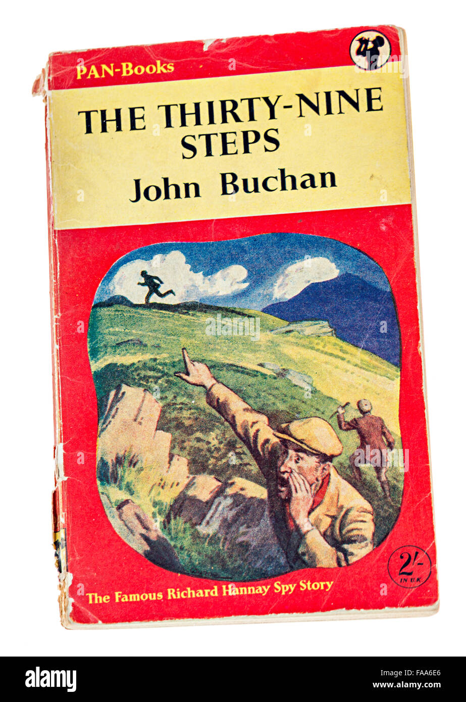 Book cover The Thirty-Nine Steps by John Buchan published by Pan - Stock Image