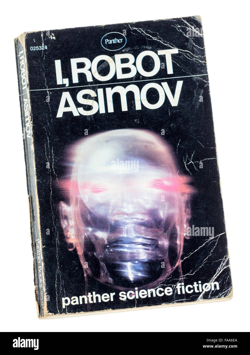 I, Robot book cover by Isaac Asimov, Panther science fiction - Stock Image