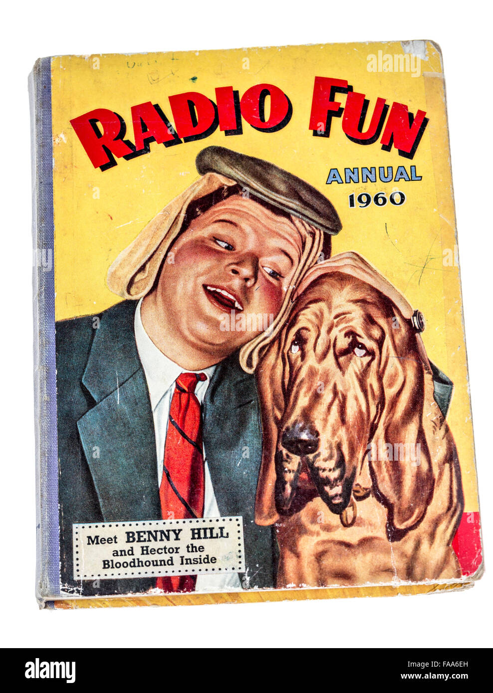 Radio Fun annual 1960 book cover featuring Benny Hill - Stock Image