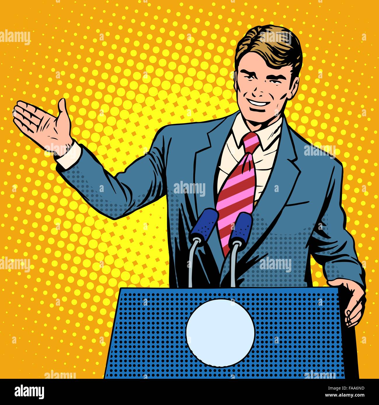 Policy candidate in the elections - Stock Vector