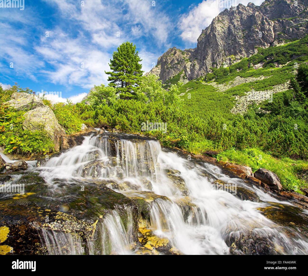 Velka Studenna Dolina, Studenna Valley,Tatra Mountains, Slovakia - Stock Image