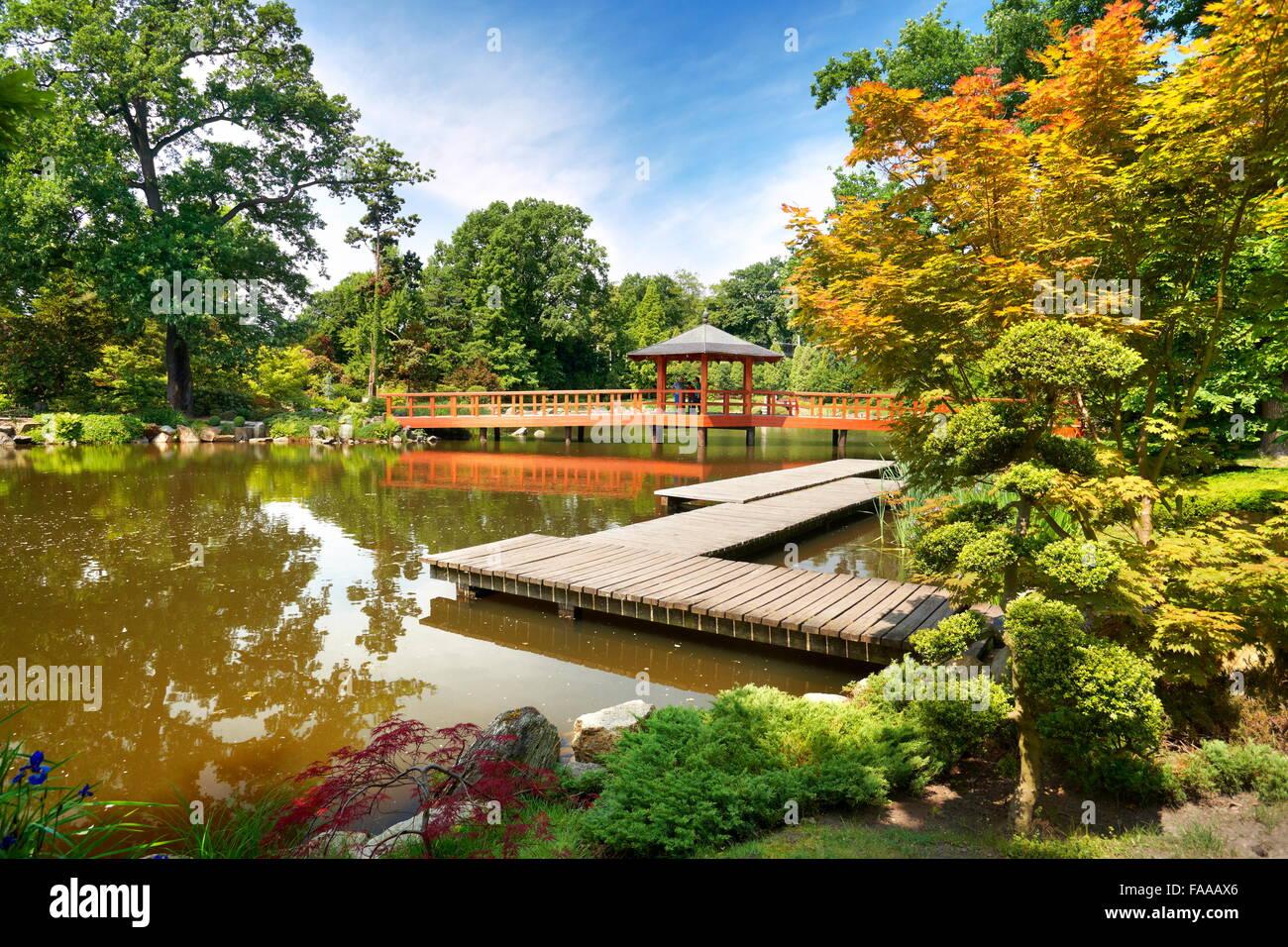 Wroclaw - Japanese Garden in Szczytnicki Park, Poland - Stock Image
