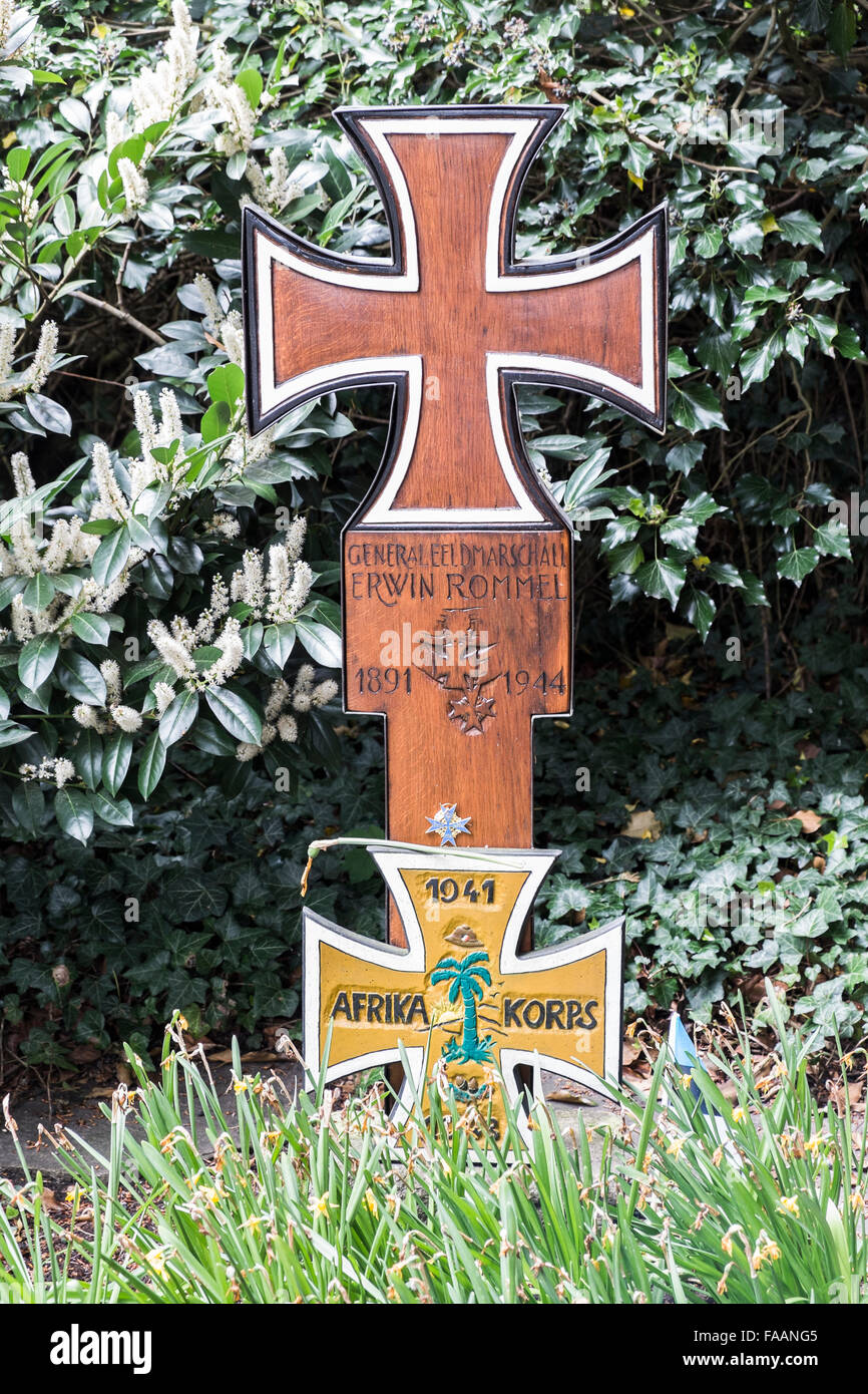 graveside of world war II field marshall erwin rommel, herrlingen,  baden-württemberg, germany Stock Photo