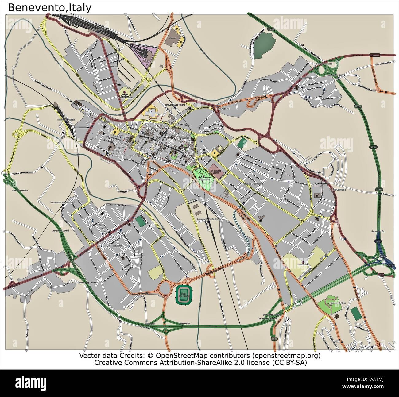 Benevento Italy city map Stock Photo 92437314 Alamy