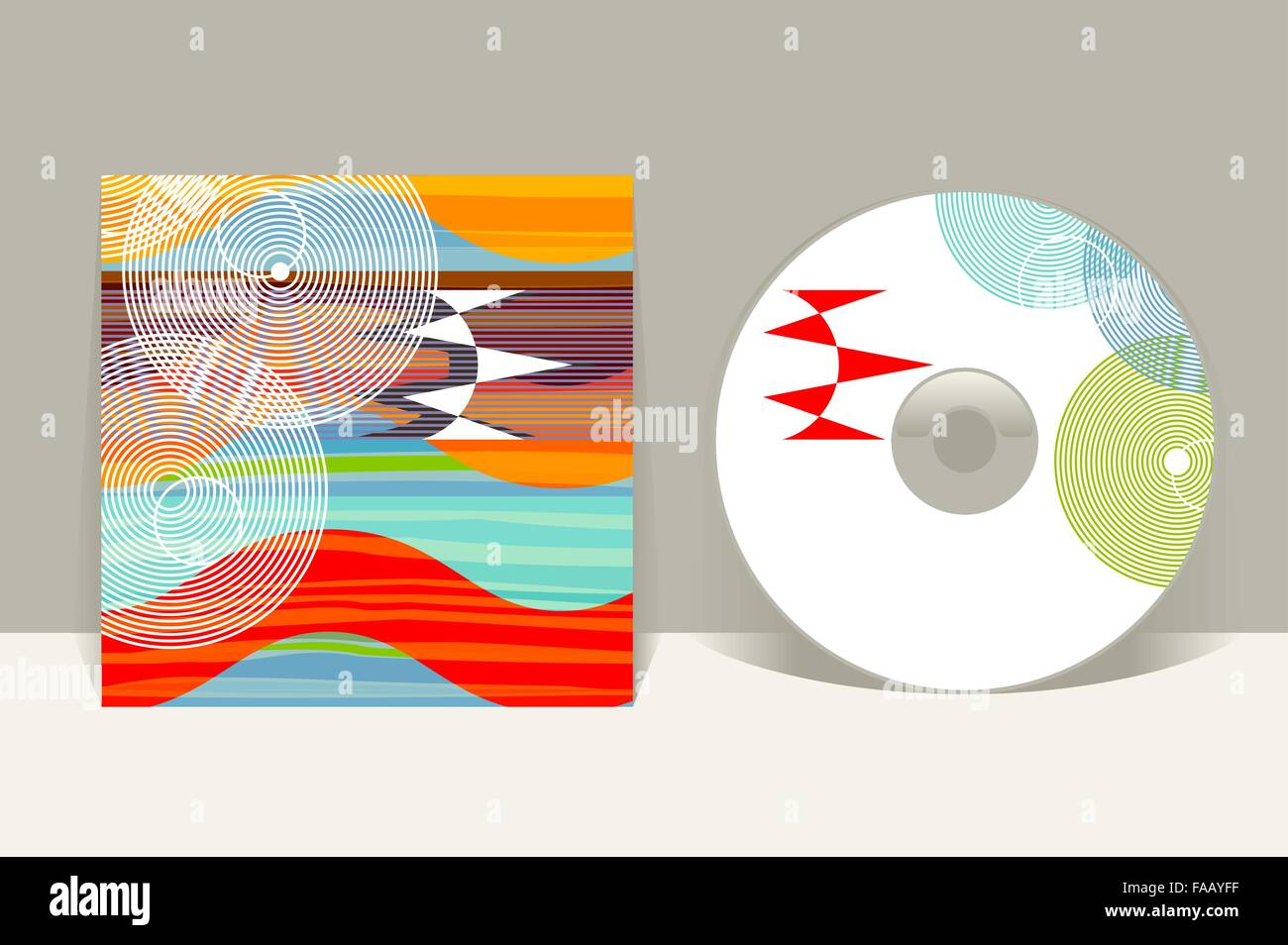 cd cover design template abstract pattern graphics editable design