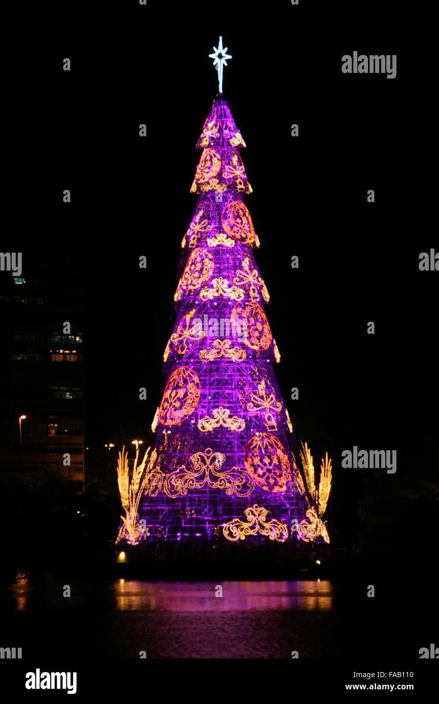Brazil Christmas Traditions.Rio De Janeiro Brazil 24th December 2015 Rio De
