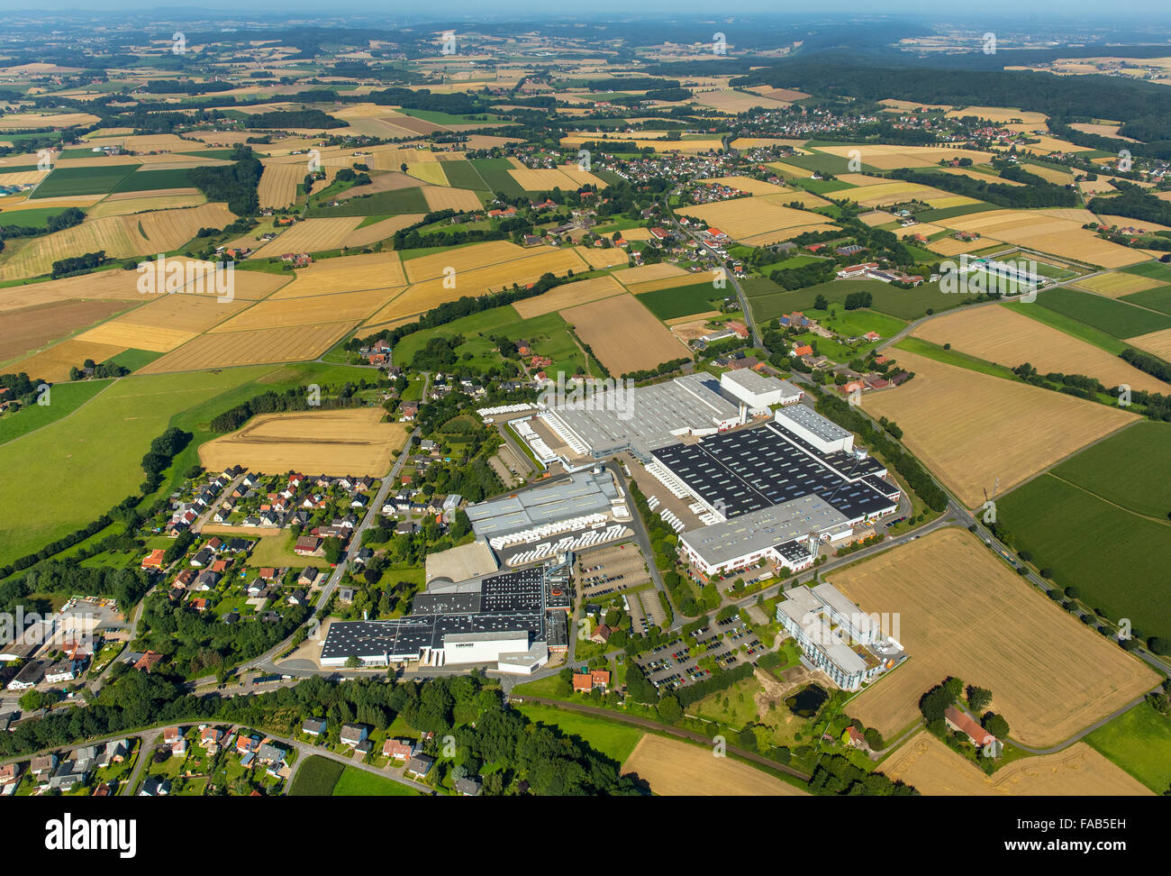 aerial view bieren h cker k chen gmbh co kg r dinghausen east stock photo 92444201 alamy. Black Bedroom Furniture Sets. Home Design Ideas