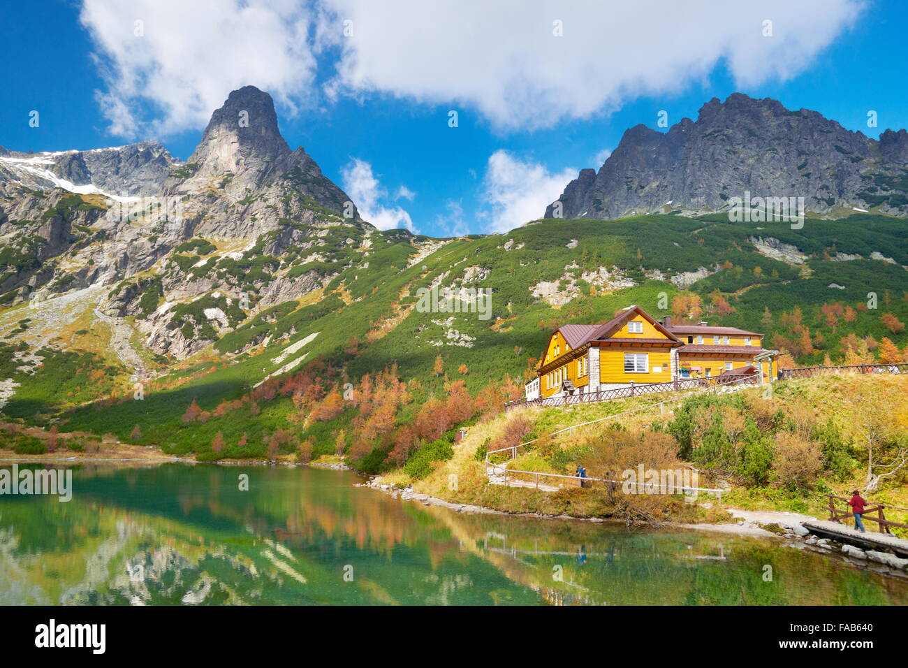 The hostel at Green Pond - High Tatras, Slovak - Stock Image
