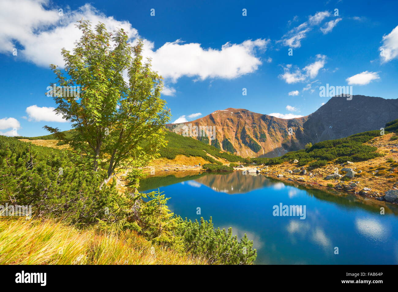 Rohacske lakes - High Tatra Mountains, Slovak - Stock Image