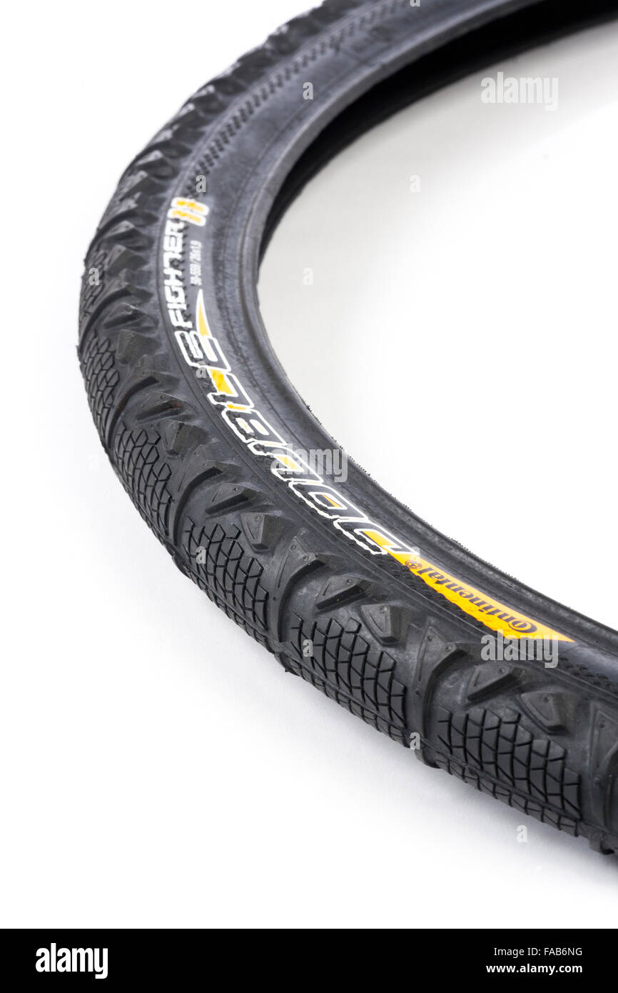 rubber bicycle tire / tyre - Stock Image
