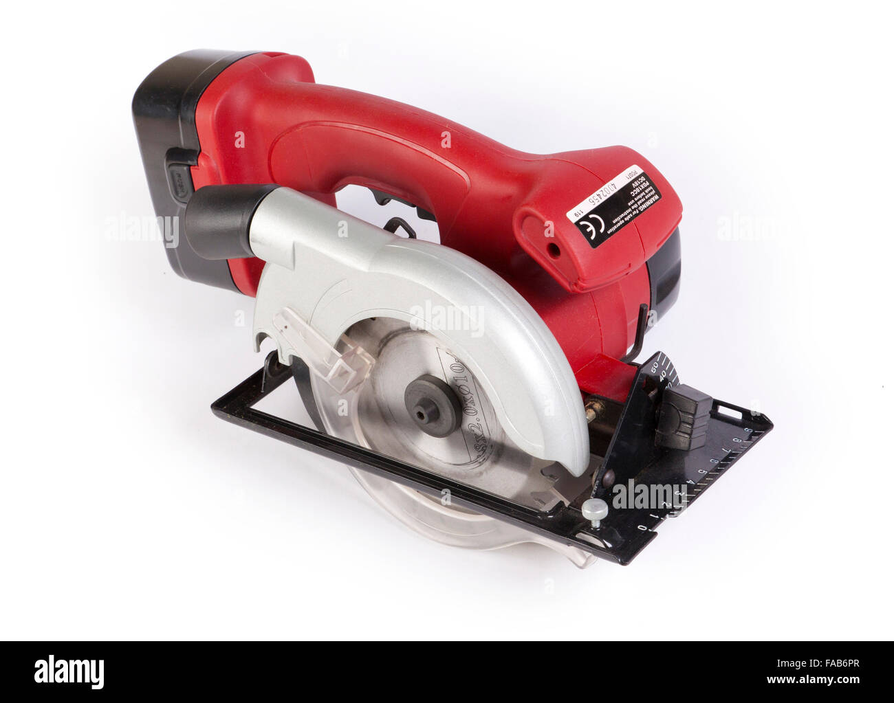 cordless circular saw powertool - Stock Image
