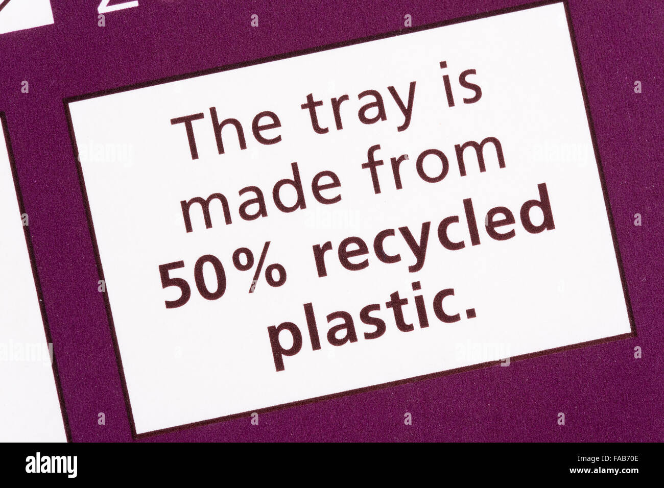 recycled plastic - Stock Image
