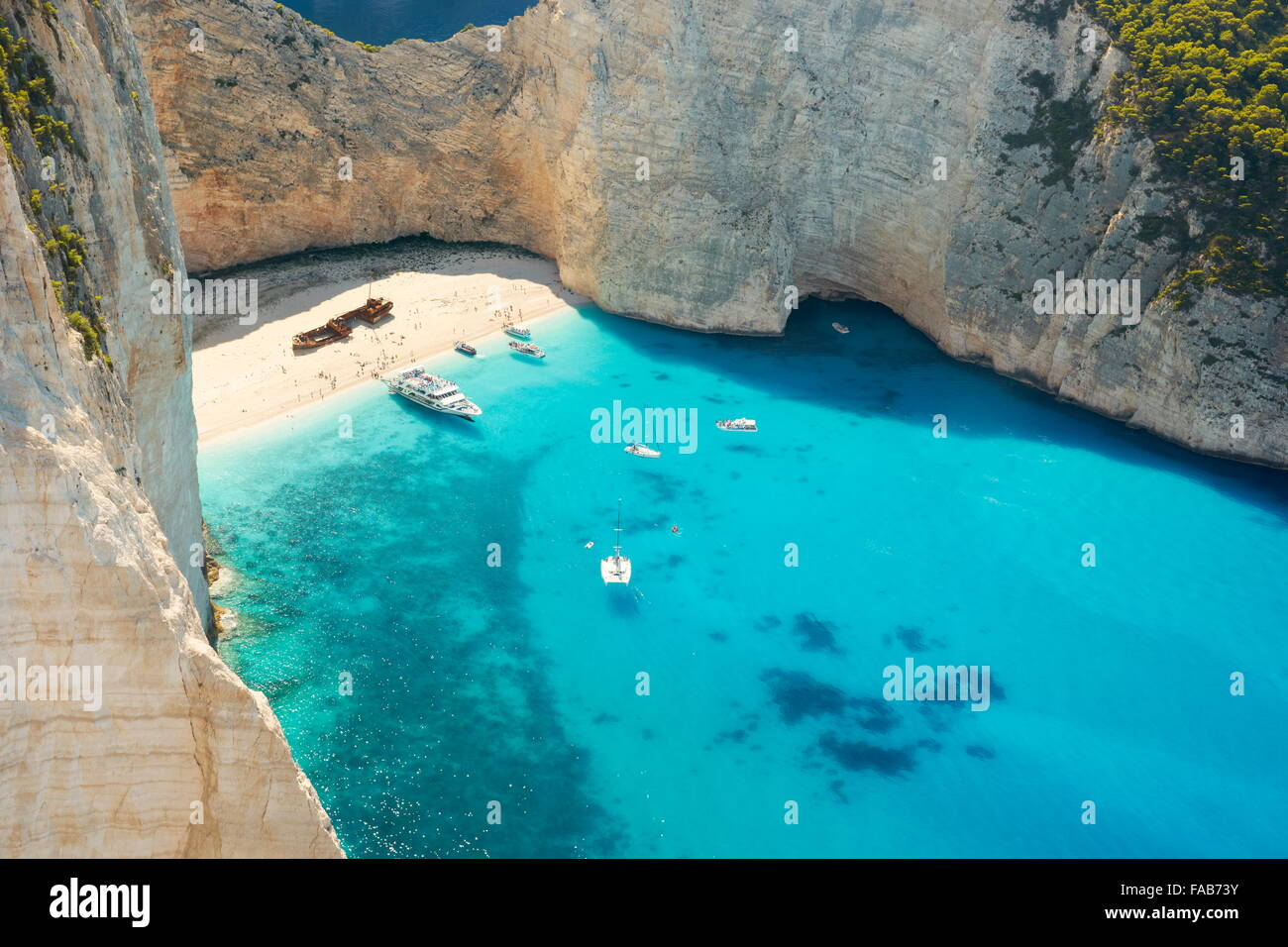 Zakynthos Island, Navagio Beach, Shipwrack Cove, Greece Stock Photo