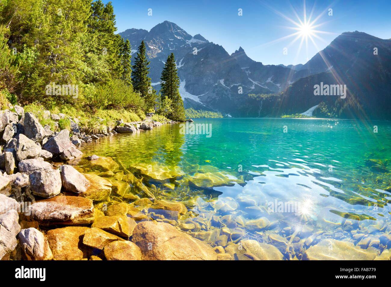 Morskie Oko lake, Tatra mountains, Poland - Stock Image