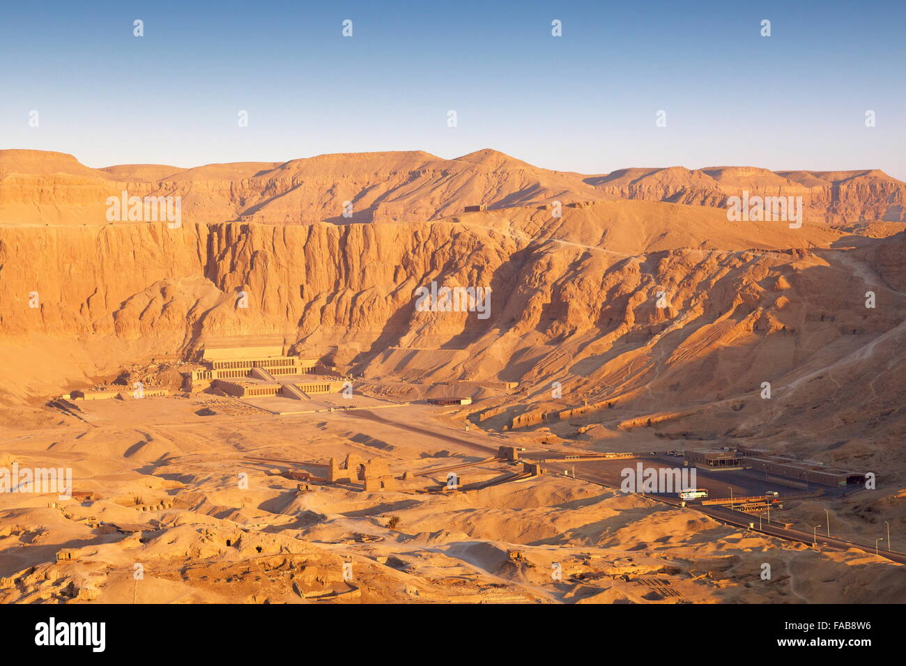 Egypt - over the valley of the Queens, Hatshepsut temple, Unesco - Stock Image