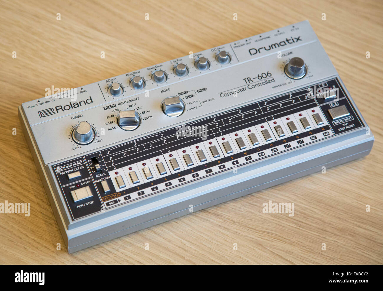 A Roland 606 drum machine Stock Photo