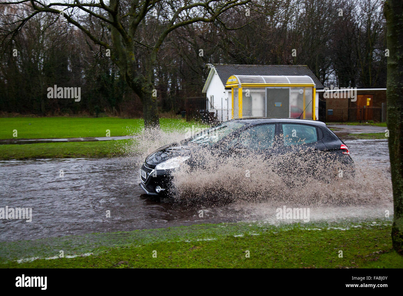 Southport, Merseyside, UK 26th December, 2015. UK Weather.  Southport Floods! For the first time in living memory - Stock Image