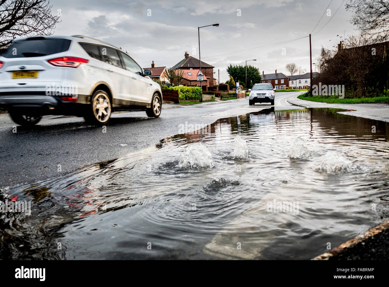 York, UK. 26th December, 2015. UK weather. Heavy rain in the North of England causes flooding in York on Boxing - Stock Image