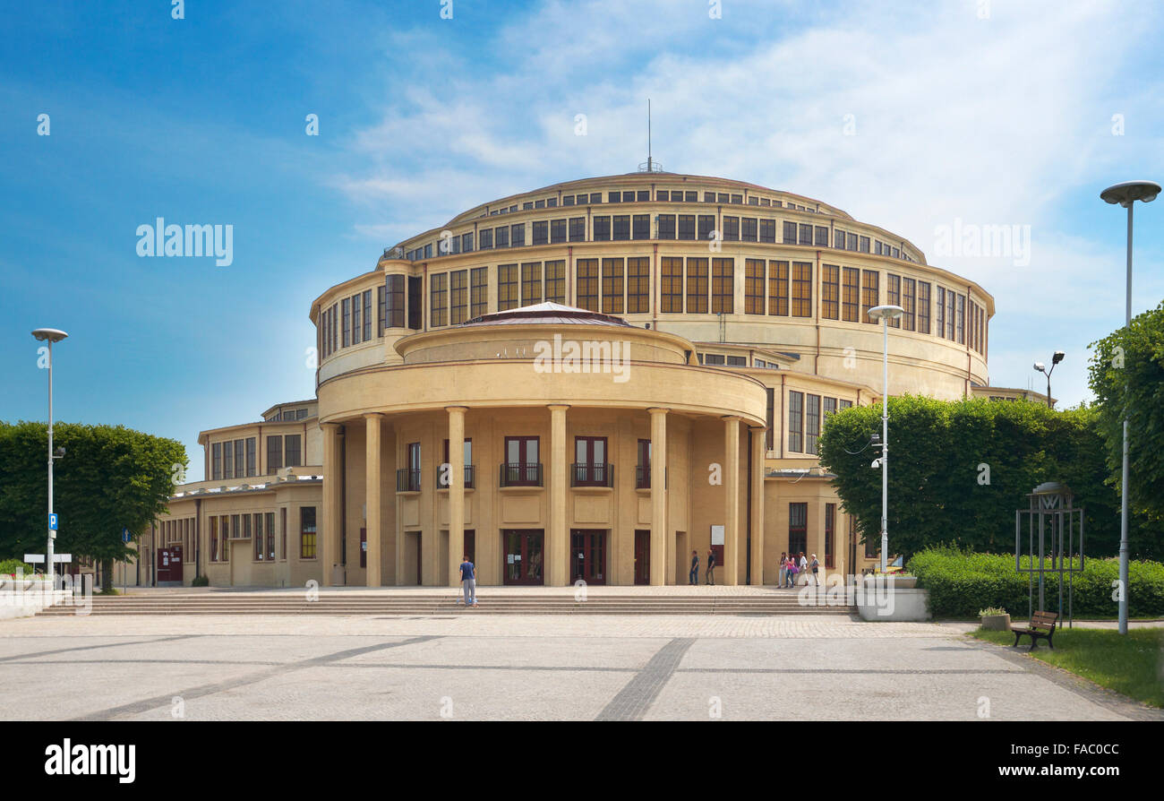 Wroclaw - Architectural Monument and UNESCO World Heritage Site, Centennial Hall, Poland Stock Photo