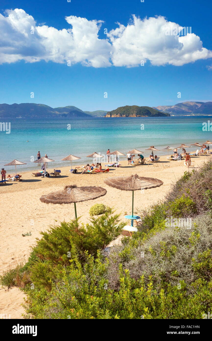 Greece - Zakynthos Island, Ionian Sea, Gerakas Beach - Stock Image