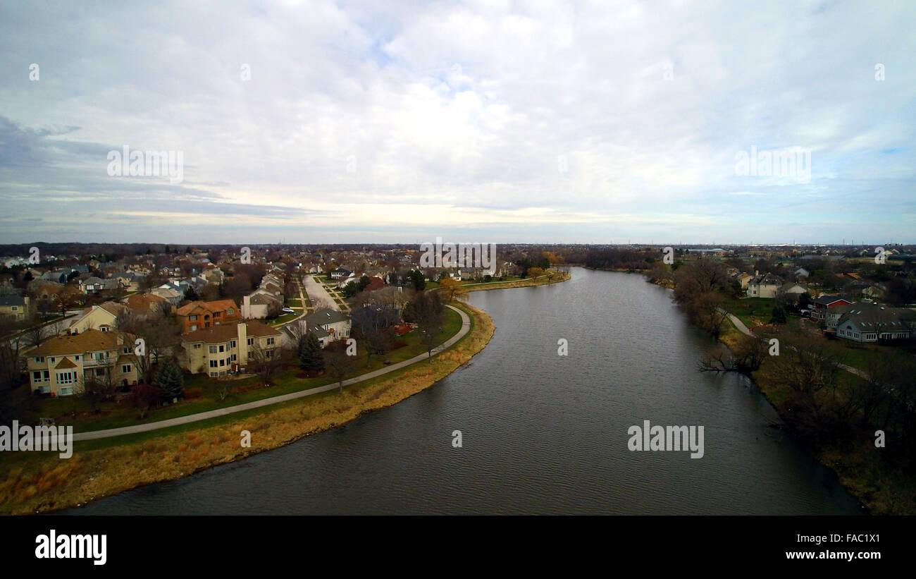 Flyover Waubonsie Lake Park - Stock Image