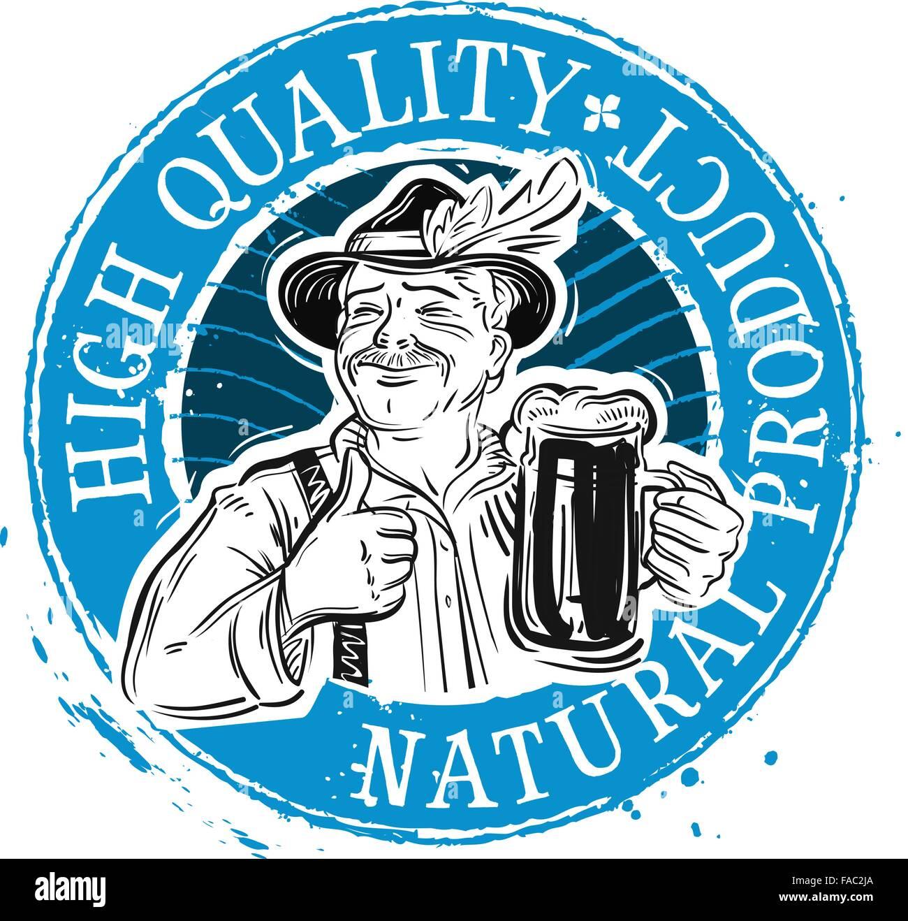 Beer, ale vector logo design template. Drink, beverage or pub Stock ...