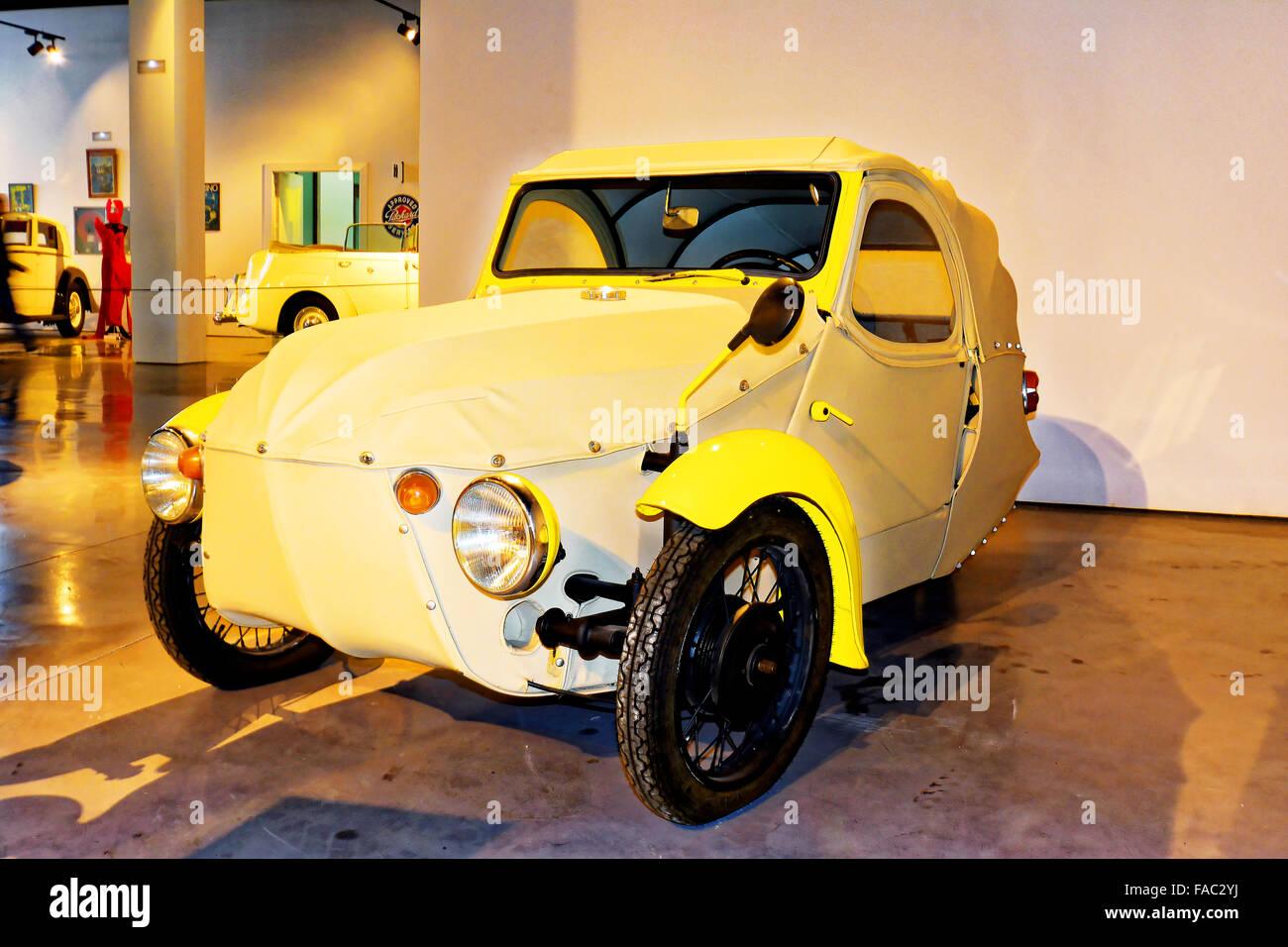 Spain Automovilistico De Malaga Czechoslovakia Velorex Baby Car - Stock Image