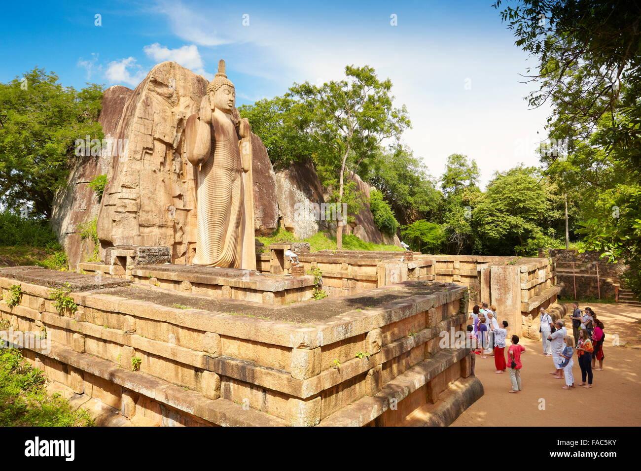 Sri Lanka - Anuradhapura, Buddha Aukana Statue, UNESCO World Heritage Site - Stock Image