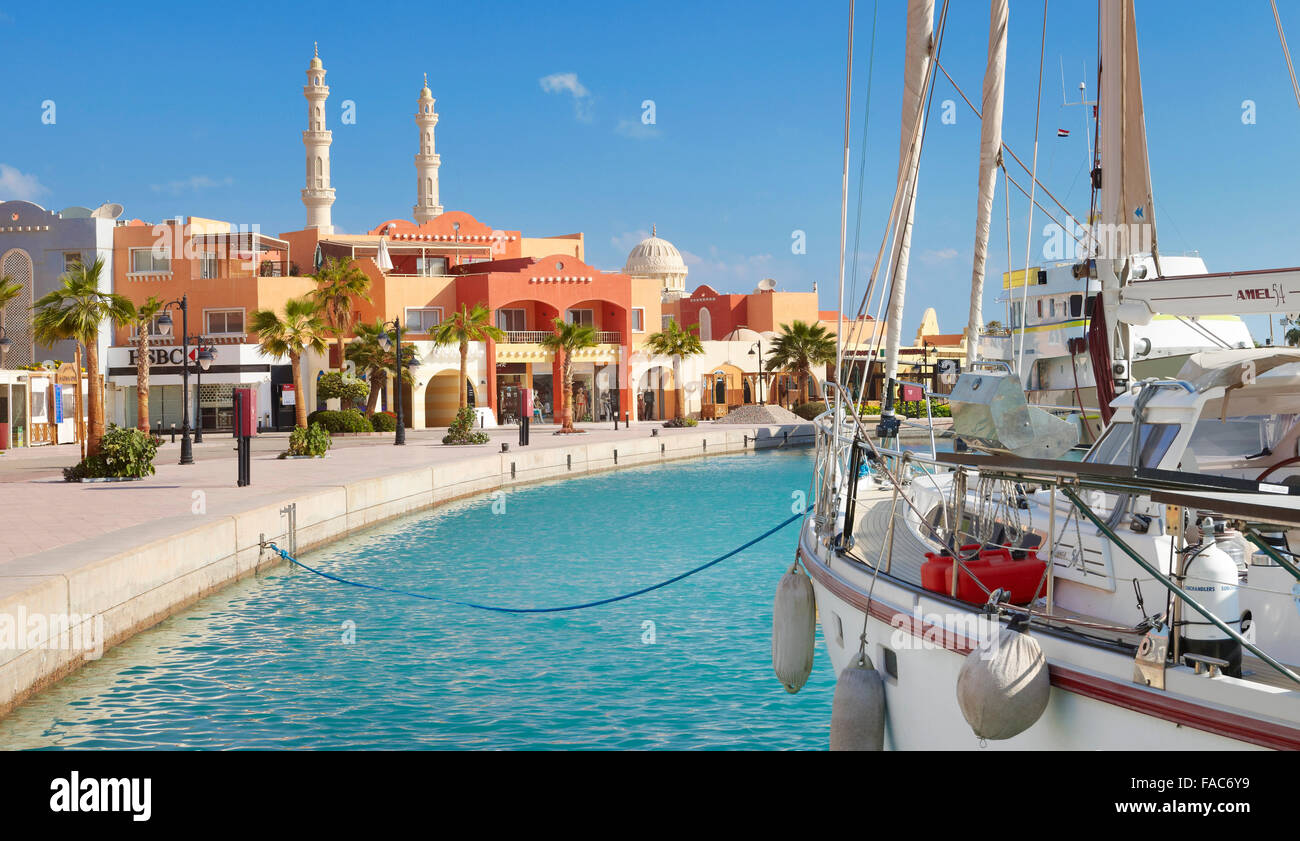 Egypt - Hurghada city, Marina - Stock Image